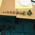 Äpplen i olika storlekar